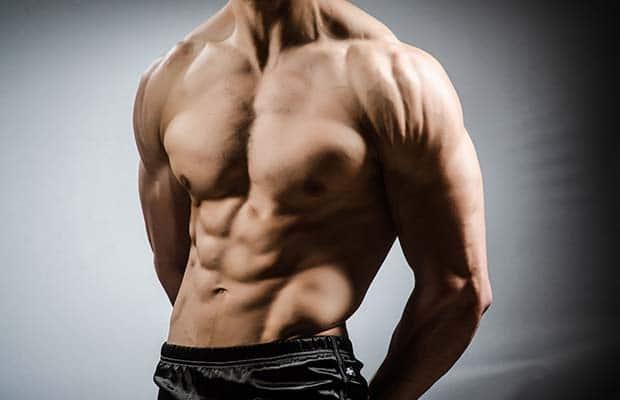 μυώδης άνδρας bodybuilding
